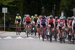 Sara Poidevin (CAN) moves up the bunch during GP de Plouay - Lorient Agglomération Trophée WNT, a 128 km road race in Plouay, France on August 31, 2019. Photo by Sean Robinson/velofocus.com