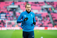 Spurs Harry Kane (10) Warms up during the The FA Cup 3rd round match between Tottenham Hotspur and AFC Wimbledon at Wembley Stadium, London, England on 7 January 2018. Photo by Robin Pope.