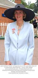 LADY SOPHIA TOPLEY  at Royal Ascot on 17th June 2003.PKN 107
