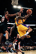 LOS ANGELES, CA - FEBRUARY 21: of the Los Angeles Lakers against the Portland Trail Blazers on February 21, 2007 at Staples Center in Los Angeles, California.  NOTE TO USER: User expressly acknowledges and agrees that, by downloading and/or using this Photograph, user is consenting to the terms and conditions of the Getty Images License Agreement. Mandatory Copyright Notice: Copyright 2007 NBAE (Photo by Jeffrey Bottari/NBAE via Getty Images)