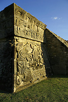 """Xochicalco is a pre-Columbian archaeological site in the Municipality of Miacatlan in the Mexican state of Morelos. Xochicalco may be translated from Nahuatl as """"place of the house of Flowers"""". The apogee of Xochicalco came after the fall of Teotihuacan and it has been speculated that Xochicalco may have played a part in the fall of the Teotihuacan empire."""