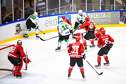 ROPRET Anze vs URUKALO Ziga during summer Hockey League match between HK SZ Olimpija and HDD SIJ Jesenice, on September 12, 2020 in Ice Arena Bled, Bled, Slovenia. Photo by Peter Podobnik / Sportida