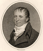 Henry Greathead (1757-1816) born in Richmond, Yorkshire. English boatbuilder who had a boatyard at South Shields, Tyne and Wear, England, where in 1790 he built 'The Original', the first specially designed lifeboat. Stipple engraving from 'The European Magazine' (London, 1804).