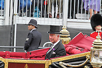 LONDON - JUNE 05: Charles Prince of Wales, The Queen's Diamond Jubilee Royal carriage procession, The Mall, London, UK. June 05, 2012. (Photo by Richard Goldschmidt)