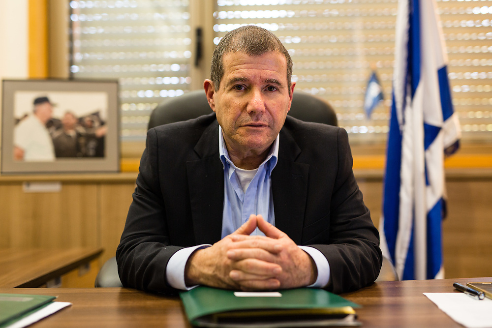 Israeli lawmaker, Knesset Member Eyal Ben-Reuven, poses for a portrait at his office at the Knesset, Israel's parliament in Jerusalem, on January 27, 2016.