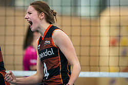 Hyke Lijklema of Talent Team in action during the league match Talentteam Papendal vs.  Eurosped on January 23, 2021 in Ede.