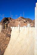 Hoover Dam and the Visitor Center, Hoover Dam National Historic Landmark, Nevada
