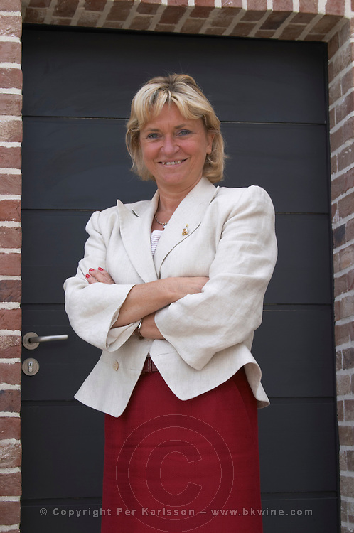Carole Duval-Leroy, owner and manager Champagne Duval Leroy, Vertus, Cotes des Blancs, Champagne, Marne, Ardennes, France