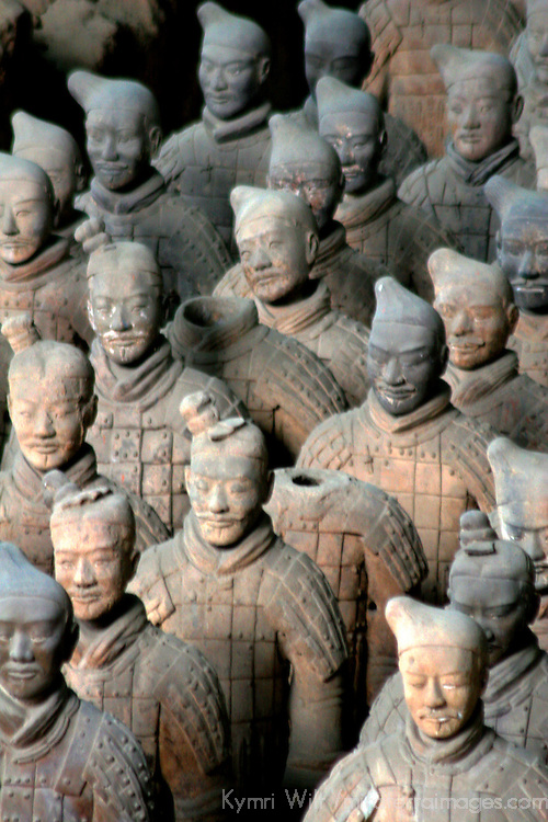 Asia, China, Shaanxi, Xian. Terra Cotta warriors and pits, a UNESCO World Heritage site.