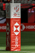 VANCOUVER, BC - MARCH 11: Poles are well padded  at the Canada Sevens held March 10-11, 2018 in BC Place Stadium in Vancouver, BC. (Photo by Allan Hamilton/Icon Sportswire)