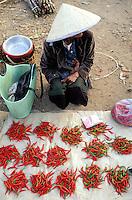 Laos -Paksé - Marché