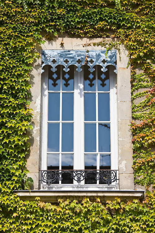 Period window in Ballee, Normandy, France