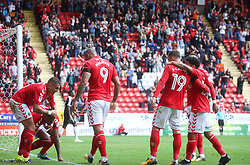 Charlton Athletic's Jake Forster Caskey (19) celebrates after scoring their fourth goal