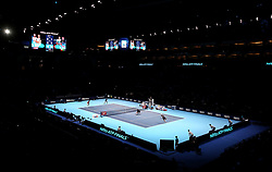 General view during the doubles match during day six of the Nitto ATP Finals at The O2 Arena, London. PRESS ASSOCIATION Photo. Picture date: Friday November 16, 2018. See PA story TENNIS London. Photo credit should read: John Walton/PA Wire. RESTRICTIONS: Editorial use only, No commercial use without prior permission.