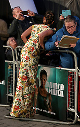 Alicia Vikander attending the Tomb Raider European Premiere held at Vue West End in Leicester Square, London