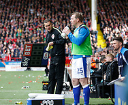 The fourth official Joe Hull with the substitutes board during the English League One match at  Bramall Lane Stadium, Sheffield. Picture date: April 30th 2017. Pic credit should read: Simon Bellis/Sportimage