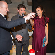 NLD/Amsterdam/20131204 - Presentatie Kerst Playboy met Marly van der Velden, Patrick Goldsteen, Koert Jan de Bruijn en Marly van der Velden onthullen cover