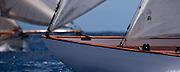 Galatea and Thalia sailing in The Cannon Race at the Antigua Classic Yacht Regatta.