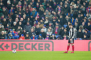 Grimsby Town defender Reece Hall-Johnson (2) prepares to take a free-kick during the The FA Cup 3rd round match between Crystal Palace and Grimsby Town FC at Selhurst Park, London, England on 5 January 2019.