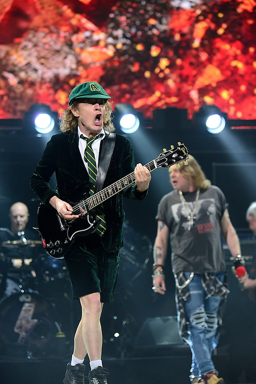 PHILADELPHIA, PA - SEPTEMBER 20:  Guitar player Angus Young of AC/DC performs during the Rock Or Bust Tour at the at Wells Fargo Center on September 20, 2016 in Philadelphia, Pennsylvania.  (Photo by Lisa Lake/Getty Images for BT PR)