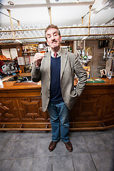 """John Challis, best known for his role as Terrance Aubrey """"Boycie"""" Boyce in the BBC television comedy series Only Fools and Horses, and its 2005 spin-off The Green Green Grass. Pic in The Feathers Hotel, Ludlow.<br /> Scotland Independent feature, Ludlow.<br /> © Michael Schofield."""