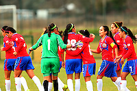 Fifa Womans World Cup Canada 2015 - Preview //<br /> Istria Cup 2015 Tournament ( Stella Maris Stadium , Umag - Croatia ) - <br /> Costarica vs Bosnia & Herzegovina 1-0  , <br /> Wendy Acosta of Costarica (20-Middle) celebrates with team mates , after score his Goal (1-0) during the match