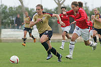 20080310: ALVOR, PORTUGAL – USA vs Norway during XV Algarve Women 's Football Cup. In picture: Runa Vikestad (NOR) and Amy Rodriguez (USA). PHOTO: CITYFILES