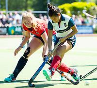 HUIZEN - Mirte Jansen (Huizen) bij de eerste play off wedstrijd voor promotie naar de hoofdklasse , Huizen-Nijmegen (3-2) COPYRIGHT KOEN SUYK