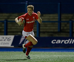 Lisa Neumann of Wales Women scores her sides second try<br /> <br /> Photographer Simon King/Replay Images<br /> <br /> Friendly - Wales Women v Hong Kong Women - Friday  16th November 2018 - Cardiff Arms Park - Cardiff<br /> <br /> World Copyright © Replay Images . All rights reserved. info@replayimages.co.uk - http://replayimages.co.uk