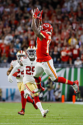 February 2, 2020, Miami Gardens, FL, USA: Kansas City Chiefs wide receiver Sammy Watkins (14) catches a pass during the first half against the San Francisco 49ers of Super Bowl LIV at Hard Rock Stadium in Miami Gardens, Fla., on Sunday, Feb. 2, 2020. (Credit Image: © TNS via ZUMA Wire)