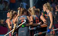 ANTWERPEN - Vreugde bij Oranje. Lidewij Welten (Ned) heeft de stand op 2-0 gebracht tijdens de   finale  dames  Nederland-Duitsland  (2-0) bij het Europees kampioenschap hockey.   COPYRIGHT  KOEN SUYK