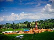 05 AUGUST 2015 - BHAKTAPUR, NEPAL:  Brick factories dot the landscape in rural Nepal, near Bhaktapur. Bricks in the factories around Bhaktapur are used in the construction boom in Kathmandu.      PHOTO BY JACK KURTZ