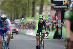Dani King (GBR) of Cylance Pro Cycling finishes in tenth place in the Tour de Yorkshire - a 122.5 km road race, between Tadcaster and Harrogate on April 29, 2017, in Yorkshire, United Kingdom.