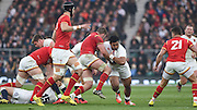 Twickenham. Great Britain.<br /> Manu TUILAGI on the ball during the RBS Six Nations Rugby, England vs Wales at the RFU Twickenham Stadium. England.<br /> <br /> Saturday  12/03/2016 <br /> <br /> [Mandatory Credit; Peter Spurrier/Intersport-images]