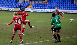 BIRKENHEAD, ENGLAND - Sunday, March 14, 2021: Liverpool's captain Niamh Fahey scores the fourth goal during the FA Women's Championship game between Liverpool FC Women and Coventry United Ladies FC at Prenton Park. Liverpool won 5-0. (Pic by David Rawcliffe/Propaganda)