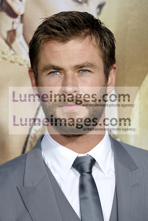 Chris Hemsworth at the Los Angeles premiere of 'The Huntsman: Winter's War' held at the Regency Village Theatre in Westwood, USA on April 11, 2016.
