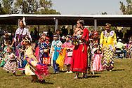 Young powwow dancers, Crow Fair, Crow Indian Reservation, Montana