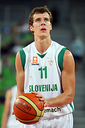 Goran Dragic of Slovenia at friendly match between Slovenia and Croatia for Adecco Cup 2011 as part of exhibition games before European Championship Lithuania on August 8, 2011, in SRC Stozice, Ljubljana, Slovenia. (Photo by Urban Urbanc / Sportida)
