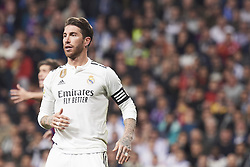 March 2, 2019 - Madrid, Madrid, Spain - Sergio Ramos (defender; Real Madrid) in action during La Liga match between Real Madrid and FC Barcelona at Santiago Bernabeu Stadium on March 3, 2019 in Madrid, Spain (Credit Image: © Jack Abuin/ZUMA Wire)