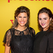 NLD/Hilversum/20190211- Verliefd op Cuba premiere, Kim Kötter en vriendin kapster Renee Kuipers