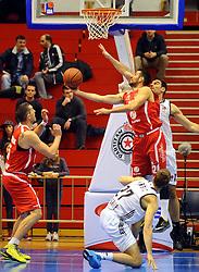 SANDI CEBULAR, kosarkas Tajfuna, na utakmici protiv Partizana.<br /> Beograd, 20.11.2015.<br /> foto: Nebojsa Parausic<br /> <br /> Kosarka, Partizan, Tajfun, Jadranska ABA liga