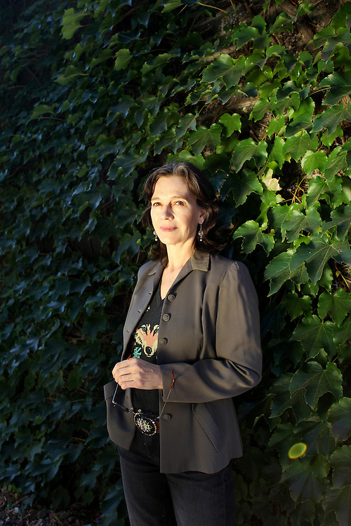 """Author Louise Erdrich photographed near her bookstore, Birchbark Books and Native Arts, in Minneapolis, MN, September 27, 2012.  Erdrich's new book is """"The Round House."""" The novel is about a woman who suffers psychological trauma after an attack, and her son tries to help by visiting the Round House, a sacred space and place of worship for the Ojibwe."""