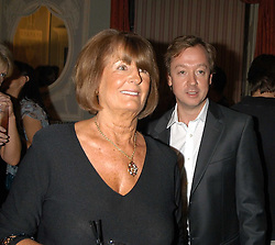 LADY ANNABEL GOLDSMITH and GEORDIE GREIG at a party hosted by Tatler magazine to celebrate the publication of Lunar park by Bret Easton Ellis held at Home House, 20 Portman Square, London W1 on 5th October 2005.<br /><br />NON EXCLUSIVE - WORLD RIGHTS