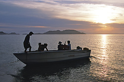 Earthwatch Team Heading Out On Boat