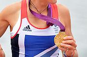 Eton Dorney, Windsor, Great Britain,<br /> <br /> 2012 London Olympic Regatta, Dorney Lake. Eton Rowing Centre, Berkshire[ Rowing].<br /> <br /> Description; Women's Pairs,  Gold Medalist  Heather STANNING. GBR W2-   Dorney Lake.<br /> <br /> 12:28:56  Wednesday  01/08/2012<br /> <br /> [Mandatory Credit: Peter Spurrier/Intersport Images]