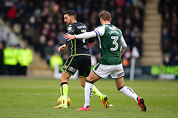 Liam Sercombe of Bristol Rovers shields the ball from Gary Sawyer of Plymouth Argyle - Mandatory by-line: Dougie Allward/JMP - 17/03/2018 - FOOTBALL - Home Park - Plymouth, England - Plymouth Argyle v Bristol Rovers - Sky Bet League One