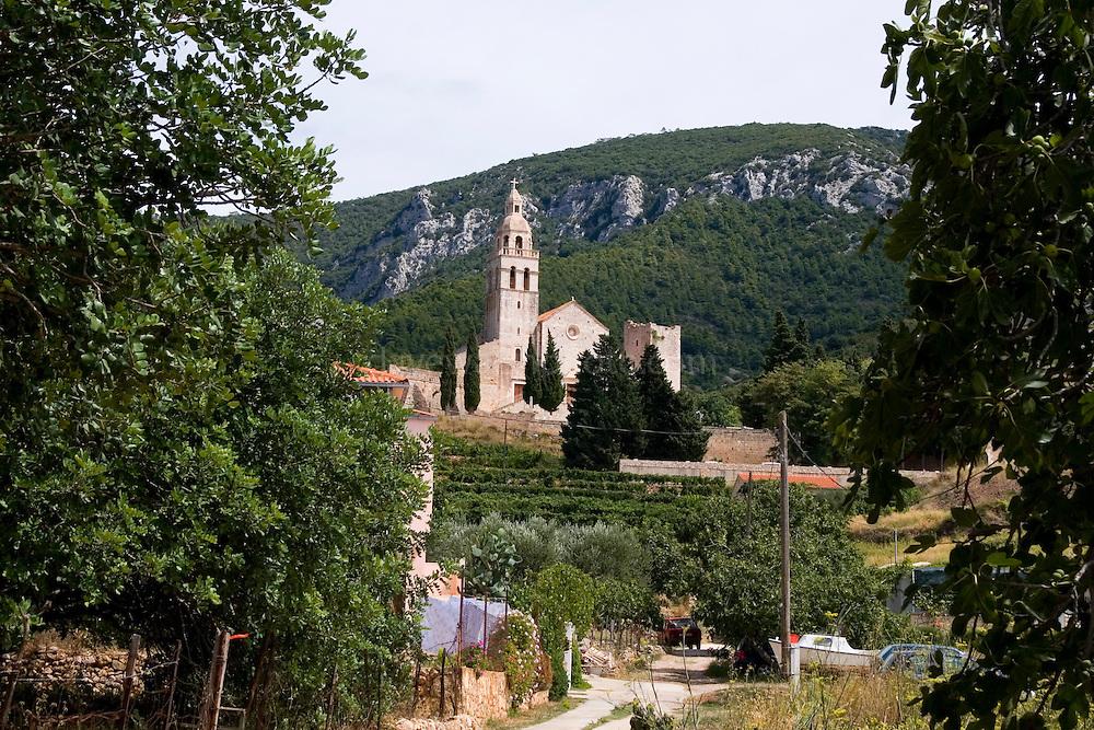 Komiza, Vis, Croatia - monastery of St. Nicholas..