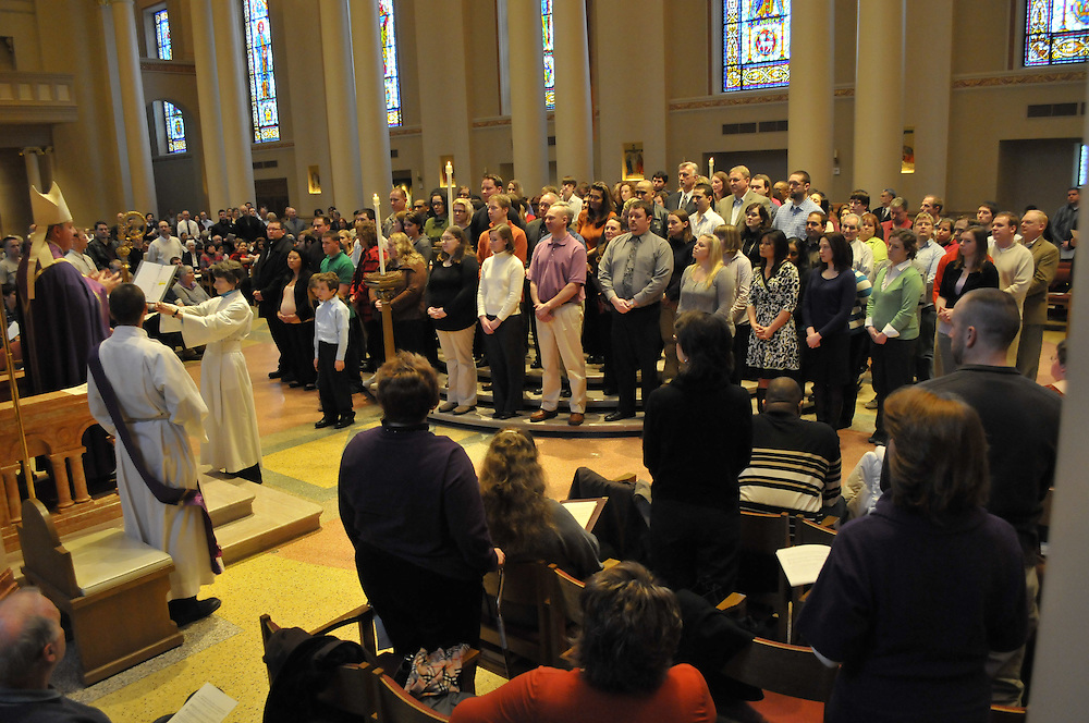 Archbishop Listecki delivers the act of recognition Sunday, Feb. 28.