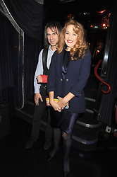 JERRY HALL and IVOR BRAKA at a party to celebrate the publication of Cloak & Dagger Butterfly by Amanda Eliasch held at the Soho Revue Bar, London on 17th November 2008.