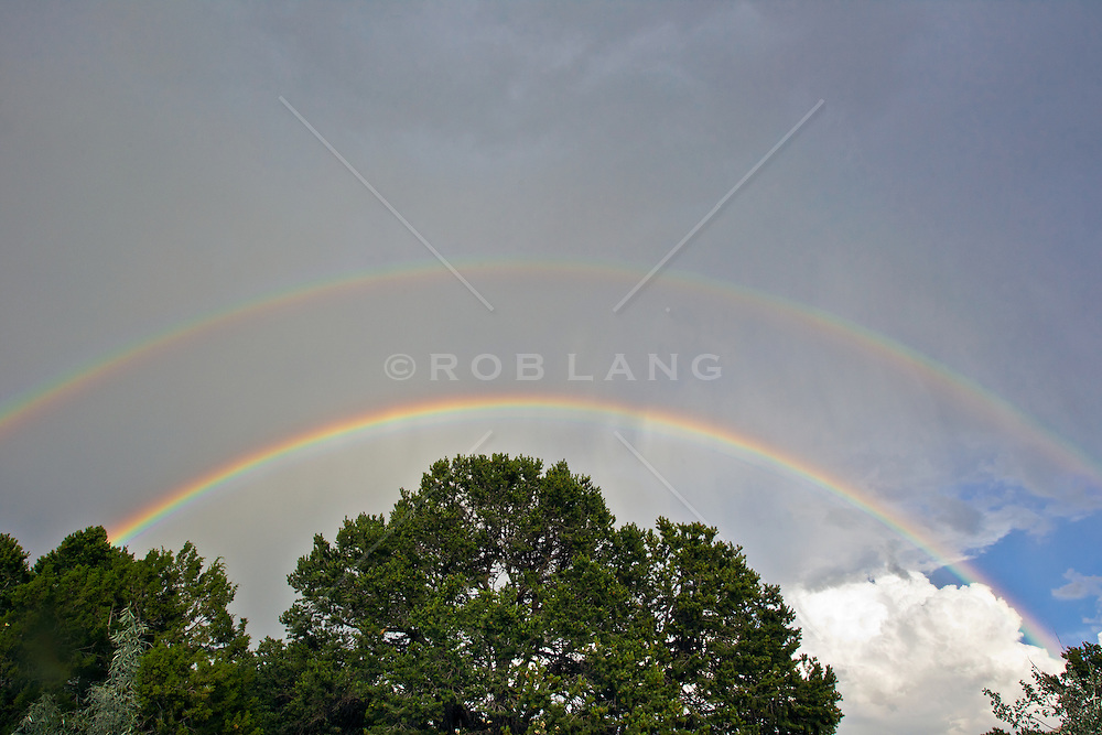 unique double rainbow in The Southwest